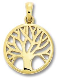 Damen Schmuck Anhänger Lebensbaum aus 333 Gelbgold