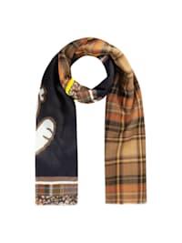 PEANUTS Schal aus Baumwolle, Wolle und Modal