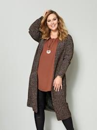 Dlhý sveter s efektnou lesklou priadzou