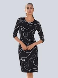 Kleid im Perlen-Print allover