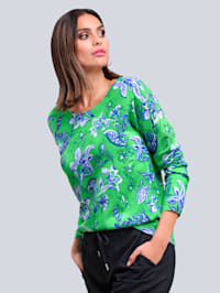 Pull-over à motif exclusif