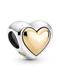 Charm - Gewölbtes goldenes Herz - 799415COO