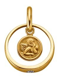 Hänge med ängel – guld 9 k