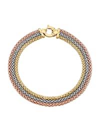 Bracelet 3 rangs en or jaune 585