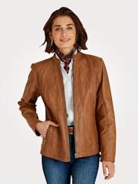 Kožená bunda z mäkkej jahňacej nappa kože