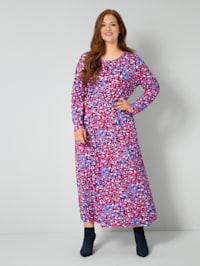 Jersey-Kleid mit Animal-Dessin