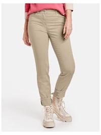 5-Pocket Hose mit breitem Umschlag