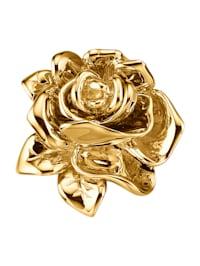 Pendentif Rose en or jaune 750