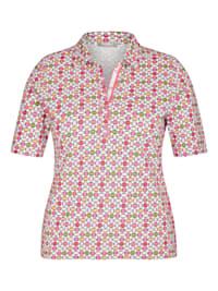 Shirt mit gepunktetem Muster und Polokragen