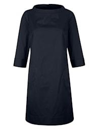 Blusenkleid in edler Baumwoll-Stretch Ware