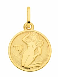 Damen & Herren Goldschmuck 333 Gold Sternzeichen Anhänger Jungfrau Ø 11,8 mm