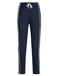 Pantalon de loisirs à passepoilcontrastant