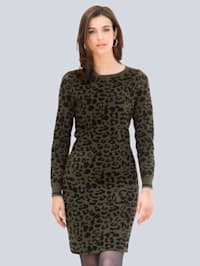 Pletené šaty s exkluzívnym Alba Moda dizajnom