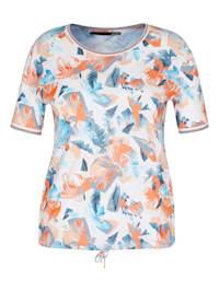 Shirt mit abstraktem Allover-Muster und Glitzerfäden