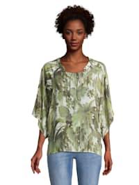 Casual-Bluse mit Muster Zierteil