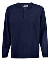Henley shirt met knoopsluiting