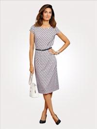 Jerseykleid mit grafischem Druckdessin