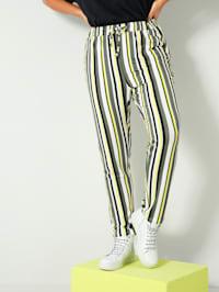 Pantalon avec lien à nouer à la taille