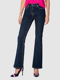 Jeans med vida byxben