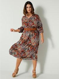 Kleid allover bedruckt