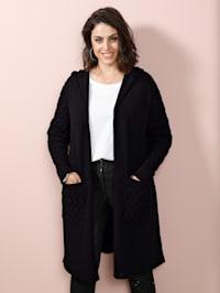 Dlouhý svetr s kapucí