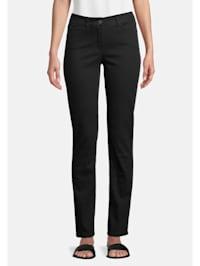 Basic-Jeans mit aufgesetzten Taschen Material