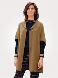 Pletená vesta v Milano pletenej kvalite