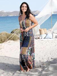 Kleid mit modischem Mustermix