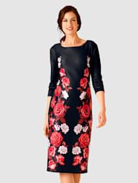 Jerseykjole med trykt mønster