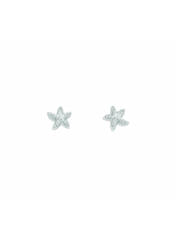 1001 Diamonds Damen Silberschmuck 925 Silber Ohrringe / Ohrstecker Seestern