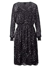 Kleid mit Sternen-Druck