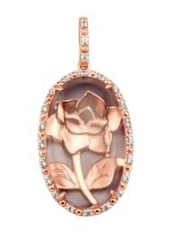 Pendentif à quartz rose