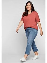 Jeans in 7/8-Länge mit Deko-Taschen