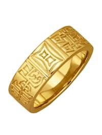 Partnerring In Silber 925, vergoldet