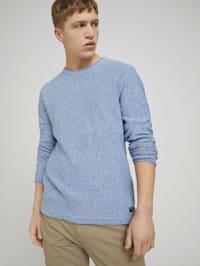 Pullover mit Bio-Baumwolle und Raglanärmeln