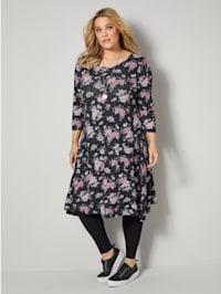 Jersey-Kleid mit floralem Druck