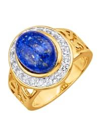 Damesring met lapis lazuli