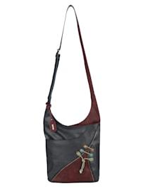Shoulder bag with decorative zip
