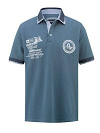 Poloshirt mit platziertem Druck im Vorderteil