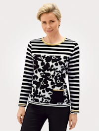 Pullover mit grafischem Jacquard- Muster