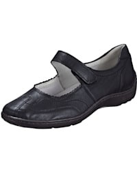 Velcro shoes with stitched detailing