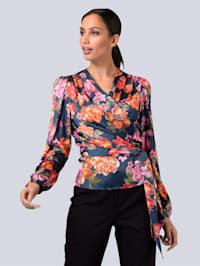 Bluse in floralem Dessin