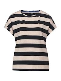 T-Shirt mit Streifen Print