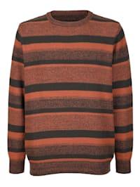 Pullover mit Streifenstrickmuster