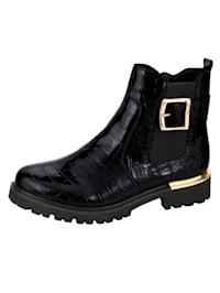 Chelsea Boot in edler Kroko-Optik