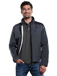 Jacke im Materialmix