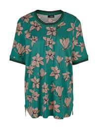 T-shirt à motif fleuri