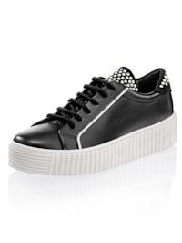Sneaker mit geriffelter Plateausohle