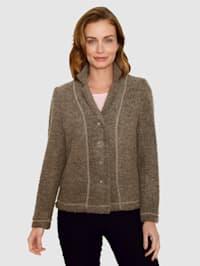 Pletené sako v buklé kvalitě