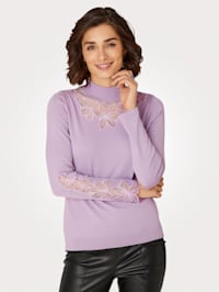 Jumper with mesh inserts